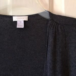 Chico's Open Front Cardigan Gray Size 3 EUC